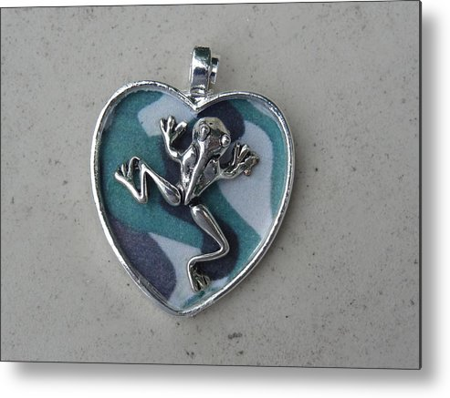 Navy Metal Print featuring the photograph Frogman by Jessica Cruz