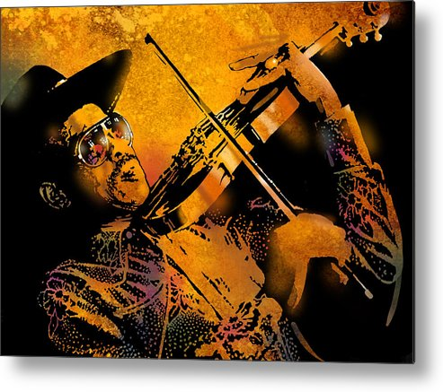 Blues Metal Print featuring the painting Gatemouth by Paul Sachtleben