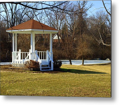 Gazebo Metal Print featuring the photograph Gazebo In The Park by Mike Stanfield