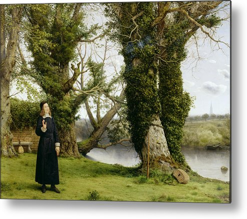 Landscape Metal Print featuring the painting George Herbert At Bemerton by William Dyce