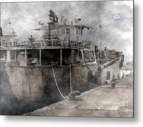 Ghostly Metal Print featuring the photograph Ghost Ship by Yali Shi