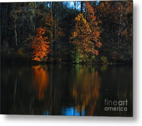 Water Metal Print featuring the photograph Glow Reflection by Rrrose Pix