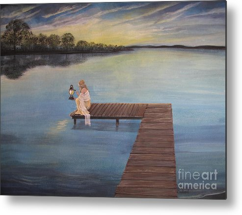 Summer Vacation Metal Print featuring the painting Good Morning World by Kris Crollard