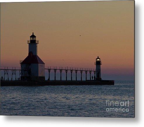 Lake Michigan Metal Print featuring the photograph Great Lake Lighthouse by Tim Mulina