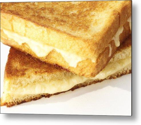 Cheese Metal Print featuring the photograph Grilled Cheese Sandwich by Federico Arce