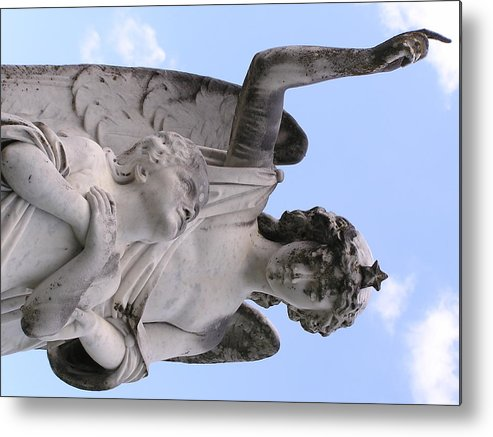 Statue Metal Print featuring the photograph Guardian Angel by Andrea Drake