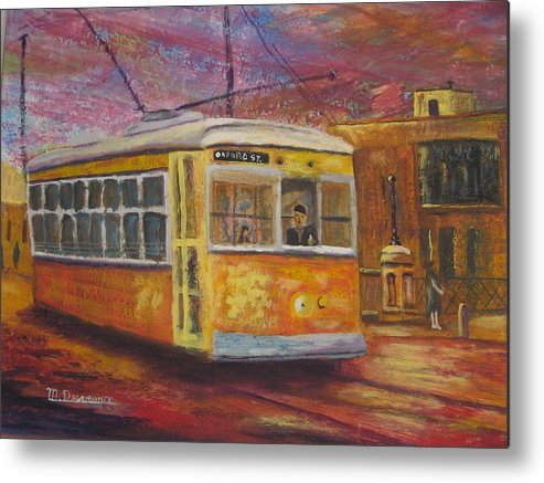 Bus Metal Print featuring the painting Halifax Trolley by Marshall Desveaux