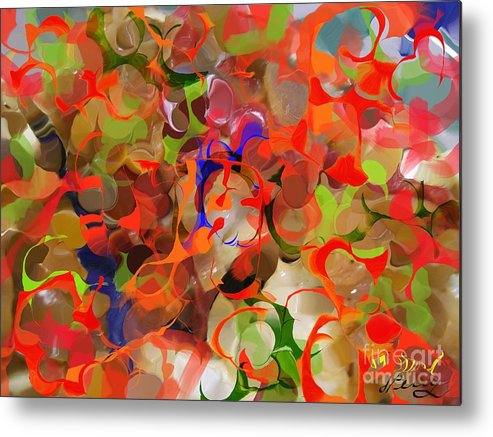 Abstract Art Prints Metal Print featuring the digital art Haste by D Perry