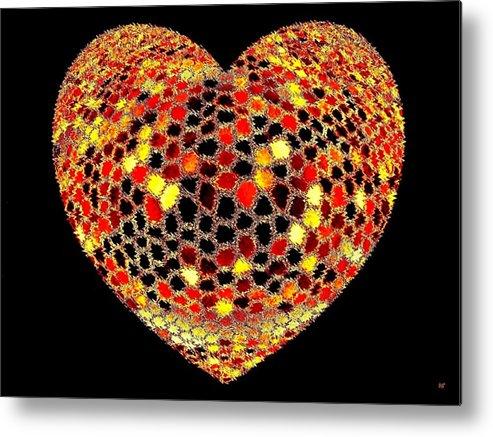 Heart Metal Print featuring the digital art Heartline 7 by Will Borden