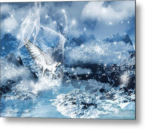 Unicorn Metal Print featuring the photograph Heavenly Interlude by Lourry Legarde