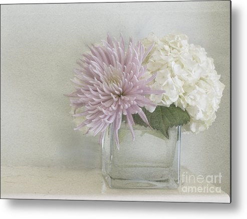 Hydrangea Metal Print featuring the photograph Hydrangea And Mum by Cindy Garber Iverson
