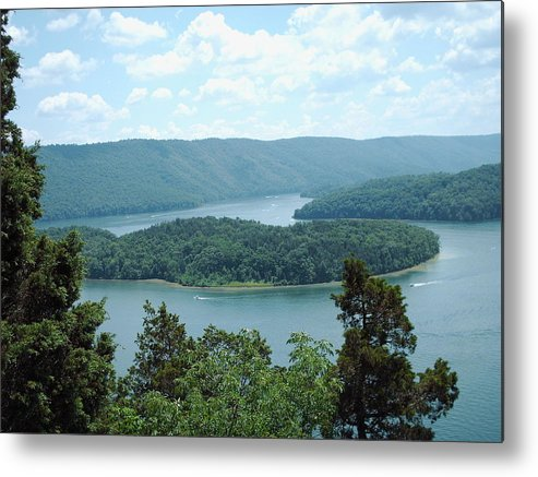 Island Metal Print featuring the photograph Island On The Lake by Christopher Woytowiez