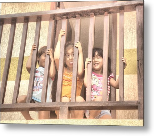 People Metal Print featuring the photograph Jail by Beto Machado