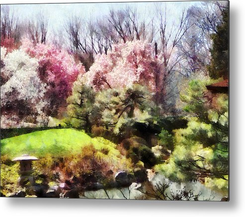 Japanese Garden Metal Print featuring the photograph Japanese Spring by Susan Savad