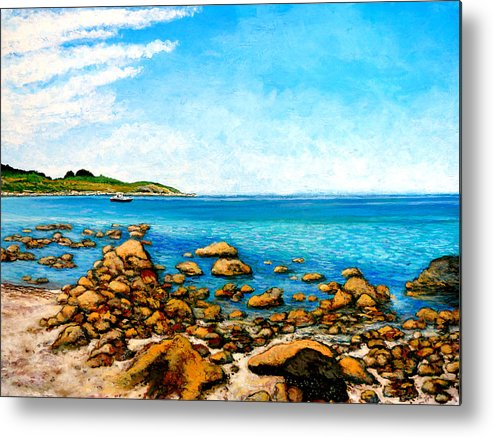 Kettle Cove Metal Print featuring the painting Kettle Cove by Tom Roderick