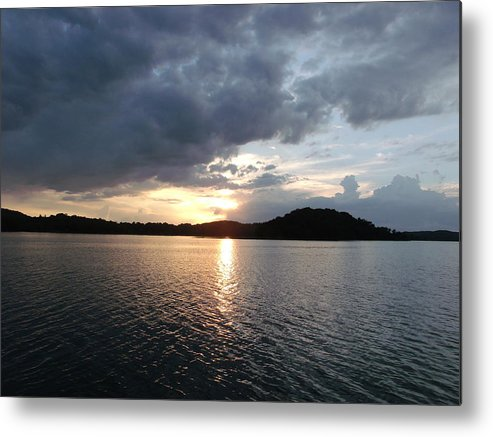 Landscape Lake Metal Print featuring the photograph Landscape Lake At Sunset by Brian Maloney