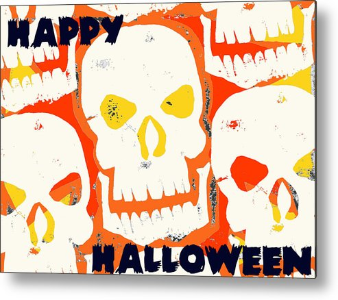 Skull Metal Print featuring the digital art Laughing Skull by Jame Hayes