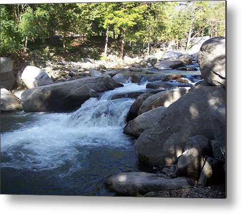 Digitl Photography Metal Print featuring the photograph Lazy Waterfall by Sheri OKeefe