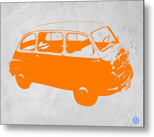 Metal Print featuring the drawing Little Bus by Naxart Studio