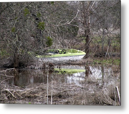 Boat Metal Print featuring the photograph Lost Boat by James Granberry