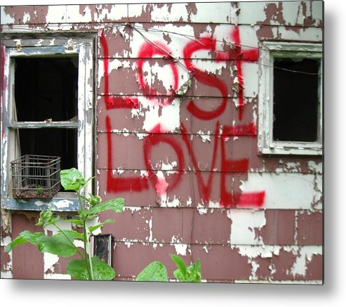 Old House With Signage Metal Print featuring the photograph Lost Love by Todd Sherlock