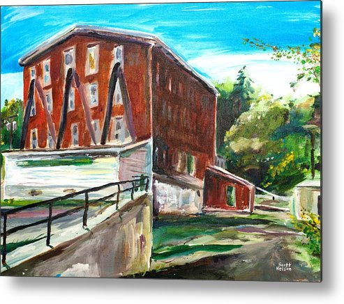 Mill Metal Print featuring the painting Millbury Mill by Scott Nelson