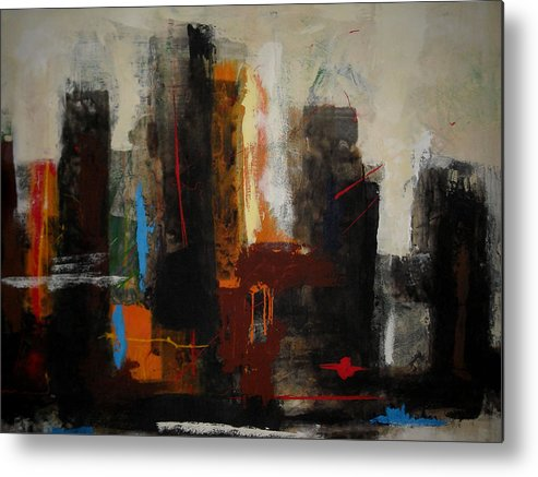 Metal Print featuring the painting Mmpl by Mohamed KHASSIF