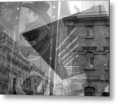 Neighborhood Metal Print featuring the photograph Monmartre Paris In Black And White by Jennifer Holcombe