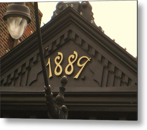 Numbers Metal Print featuring the photograph Monon Crown by Bryan Wulf