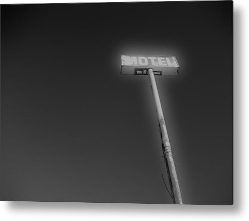 Mod Metal Print featuring the photograph Motel 2 by Shawn Savage