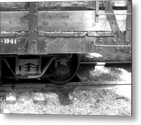 Train Metal Print featuring the photograph Narrow Gauge Train 2 by Amara Roberts