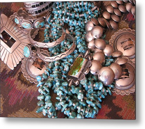 Silver Metal Print featuring the photograph Native Wealth by Penny Anast