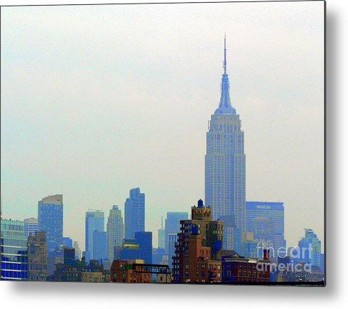 New York Skyline Metal Print featuring the photograph New York Skyline by Elizabeth Fontaine-Barr
