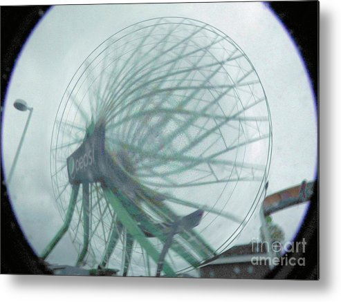 Ocean City Metal Print featuring the photograph Oc Ferris 04 by Rrrose Pix