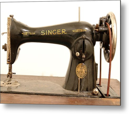 Old Metal Print featuring the photograph Old Singer 2 by Alessandro Della Pietra