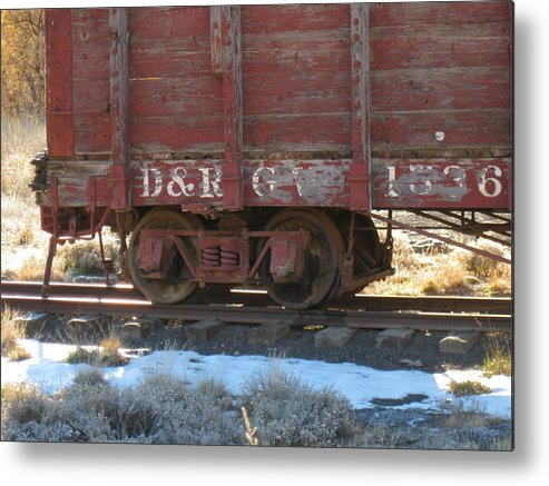 Boxcar Metal Print featuring the photograph Old Train Boxcar by Amara Roberts