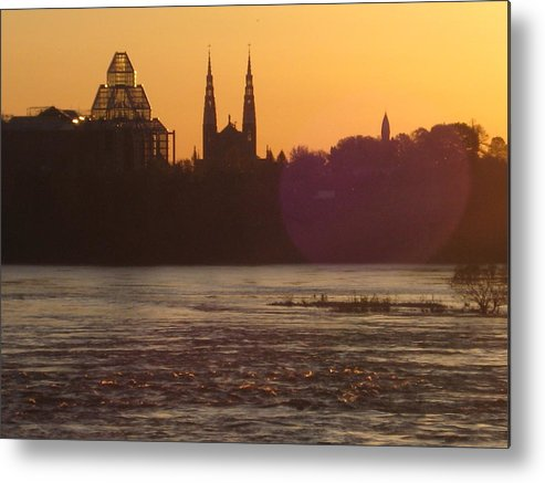Paysage Urbain Metal Print featuring the photograph Ottawa By Night 5 by Andre Paquin