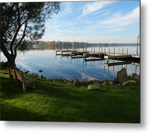Landscape Metal Print featuring the photograph Park And Dock by Dennis Leatherman