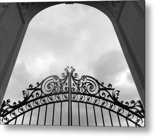 Pearly Gates Metal Print featuring the photograph Pearly Gates by Laura Hol Art