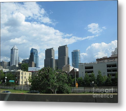 Philadelphia Metal Print featuring the photograph Philadelphia 02 by Ausra Huntington nee Paulauskaite