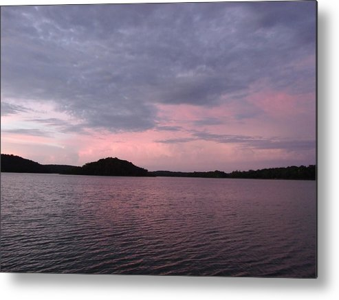 Pink Sky Lake Metal Print featuring the photograph Pink Sky Lake by Brian Maloney