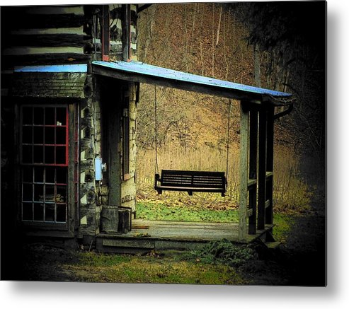 Porch Metal Print featuring the photograph Porch Swing by Michael L Kimble
