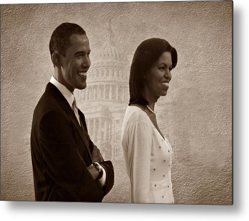 President Obama Metal Print featuring the photograph President Obama And First Lady S by David Dehner