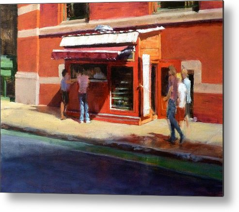 City Metal Print featuring the painting Prince Street Coffee by Peter Salwen