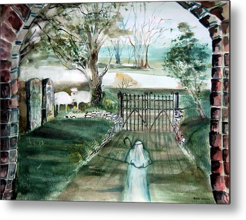 Pastoral Metal Print featuring the painting Psalm 23 by Mindy Newman