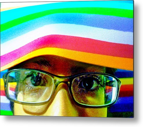 Face Metal Print featuring the photograph Rainbow Mind by Beto Machado