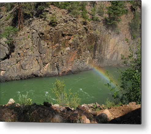 Rainbow Metal Print featuring the photograph Rainbow Over The Creek by Amara Roberts