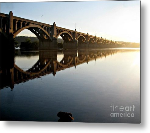 462 Bridge Metal Print featuring the photograph Reflection by Timothy Coover