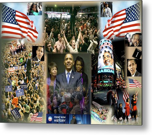Barack Metal Print featuring the digital art Respectfully Yours..... Mr. President 2 by Terry Wallace