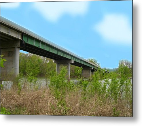 Patricia Metal Print featuring the digital art River Across The Gasconade by Patricia Erwin